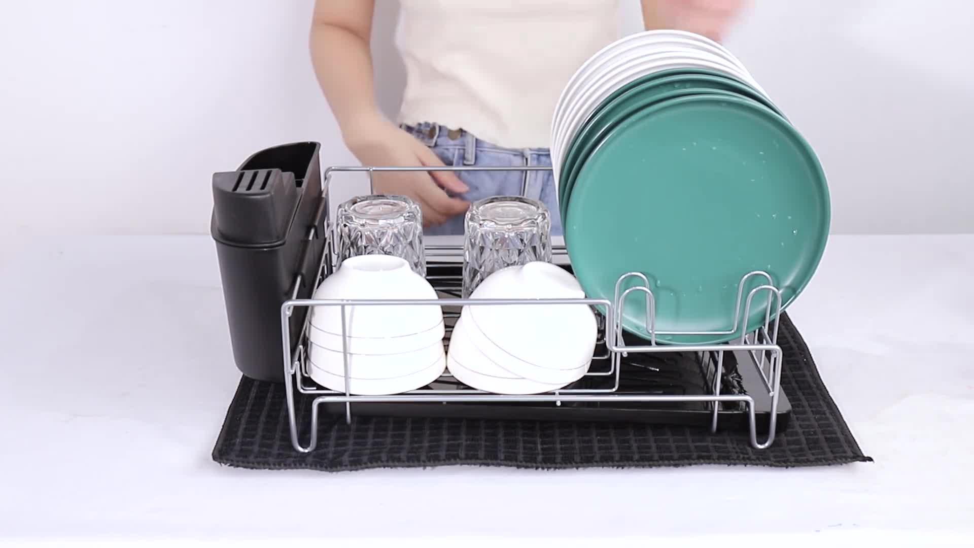 White gerFogoo Repose-ustensiles avec /égouttoir pour plusieurs ustensiles R/ésistant /à la chaleur Ustensile de cuisine Porte-spatule PP Repose-cuill/ère