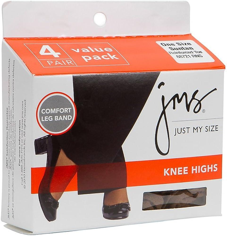 Just My Size Women`s Reinforced Toe Knee High