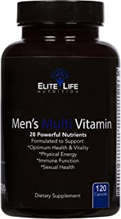 Men's Multi Vitamin - 28 Powerful Nutrients, Vitamins, and Minerals - Best Multivitamin for Men - Supports Optimum Health,...