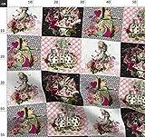 Königin, Kaninchen, Zeit, Patchwork, Alice, Wunderland,