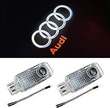 Aukur Car Door LED Logo Light Laser Projector Lights Ghost Shadow Welcome Lamp Easy Installation for Audi A1 A3 A4 A5 A6 A7 A8 Q3 Q7 R8 RS TT S Series(2 Pack)