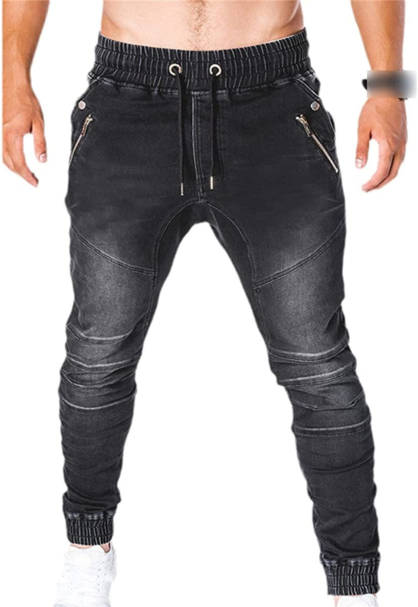 CACLSL Jeans Sweatpants Men's Fashion Military Pants Multi-Pocket Loose Pants Casual Pants Overalls Jogging Pants