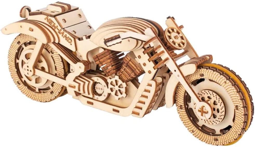 TOYROOM Motorbike Toy Mechanical Model Eco Sales Charlotte Mall Puzzle Wooden Wood 3D