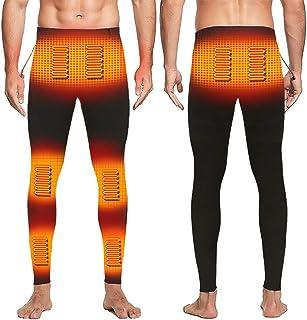 EssenceLiving Thermische broek voor heren, USB elektrische verwarmde legging, 8 kachels, 3 onafhankelijke temperatuur, win...