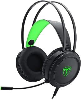 Headset T-Dagger Ural Preto e Verde com LED Verde T-RGH202