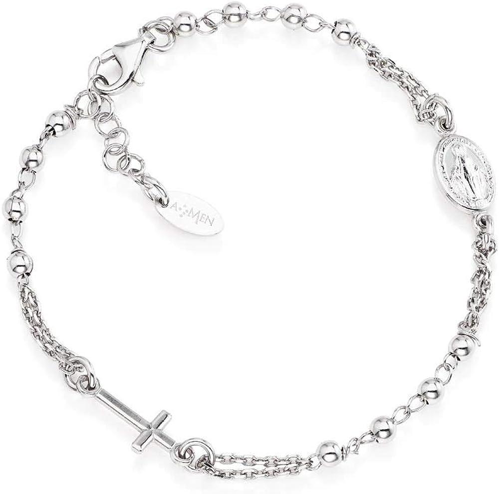 Amen, bracciale per donna, in argento 925 rodiato BROB3