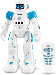 IHBUDS Robot Toy for Kids, Smart Robot Kit with Remote Control & Gesture Control, Perfect Robotics Gifts for Boys Girls Learning Programmable Walking Dancing Singing (Blue)