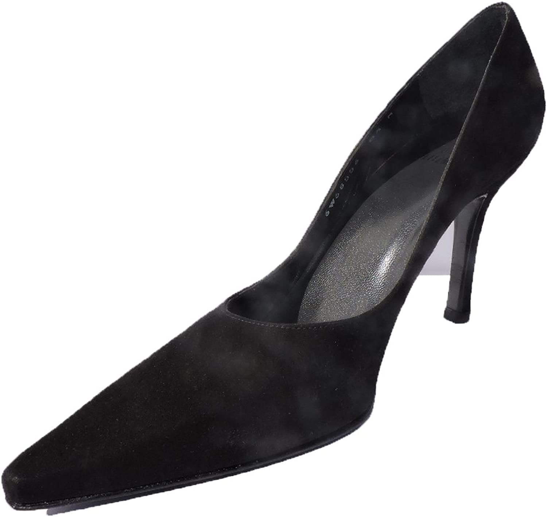 Stuart Weitzman Women's Lady Black Suede 3.5  Heels Pumps Size 7 M