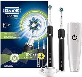 Oral-B Pro 790 Şarj Edilebilir Diş Fırcası 2'li Avantaj Paketi, Siyah