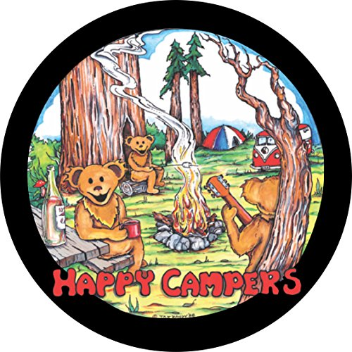TIRE COVER CENTRAL Happy Campers Dancing Bears Music Spare Tire Cover (Select tire Size/Back up Camera in MENU) Custom Sized to Any Make/Model (205/75r14)