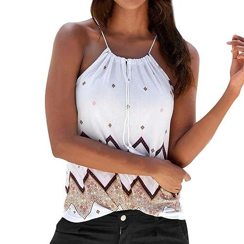 4f454cf857018 Ladies Boho Printed Halter Vest Tops