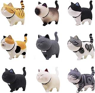 comprar comparacion Juego de 9 figuras de gato de Tpocean, decoración del interior del hogar, coche, accesorios de resina para decoración de j...