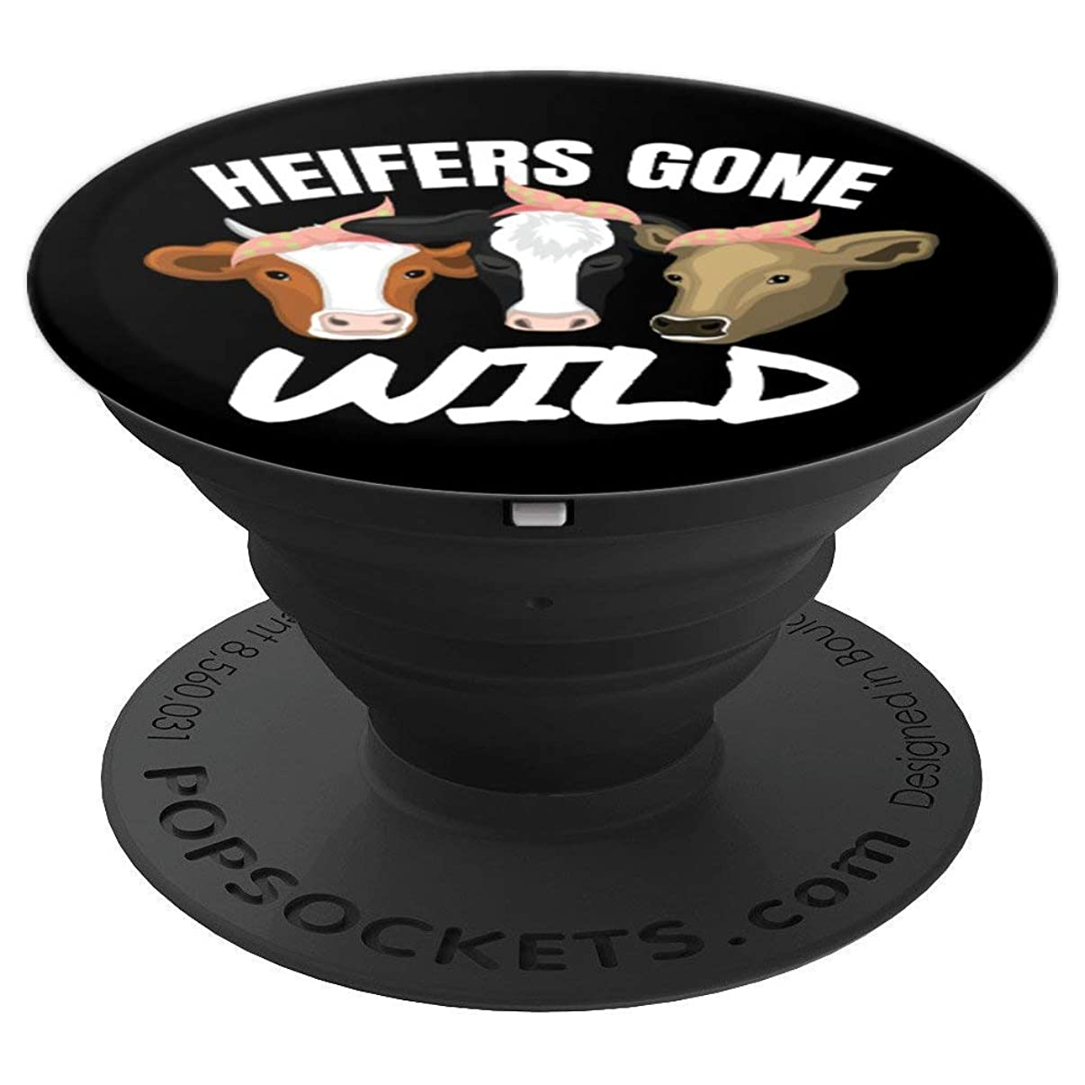 Heifers Gone Wild Funny Heifer Inspired - PopSockets Grip and Stand for Phones and Tablets