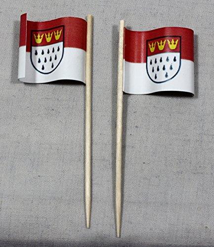 Buddel-Bini Party-Picker Flagge Köln Papierfähnchen in Spitzenqualität 50 Stück Beutel