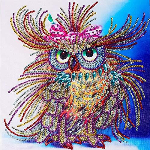 5D DIY Kit de Pintura de Diamantes Dibujo de Diseño Pintura Artesanía de Pared Decoración Del Hogar (Búho 30 * 30cm)