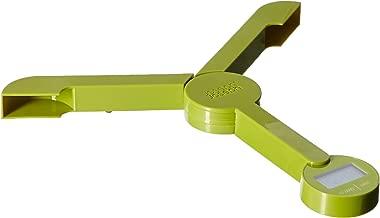 Joseph Joseph 40072 Tri Scale Folding Digital Kitchen and Travel Portable Food Scale Compact Multifunction Slim, Green