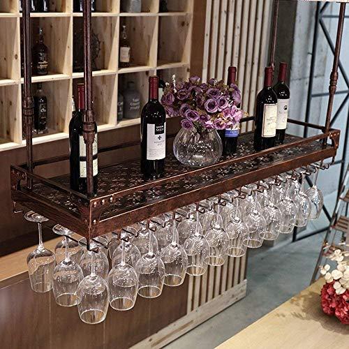 Flaschenregal Weinregal-Halter-Speicher Weinregale Deckenbecherhalter hängend Rot Ccompliment jeden Raum, 100cmx30cm WTZ012