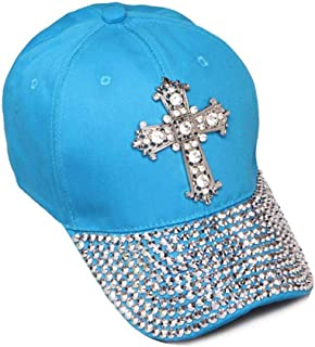 Womens Sequiened Baseball Cap w/Cross