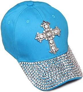 Womens Sequiened Baseball Cap w/Cross