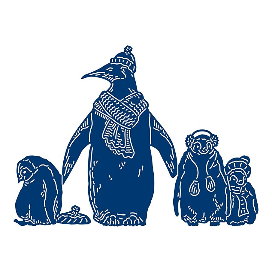 Tattered Lace Mother and Baby Penguins Die, N Applicable