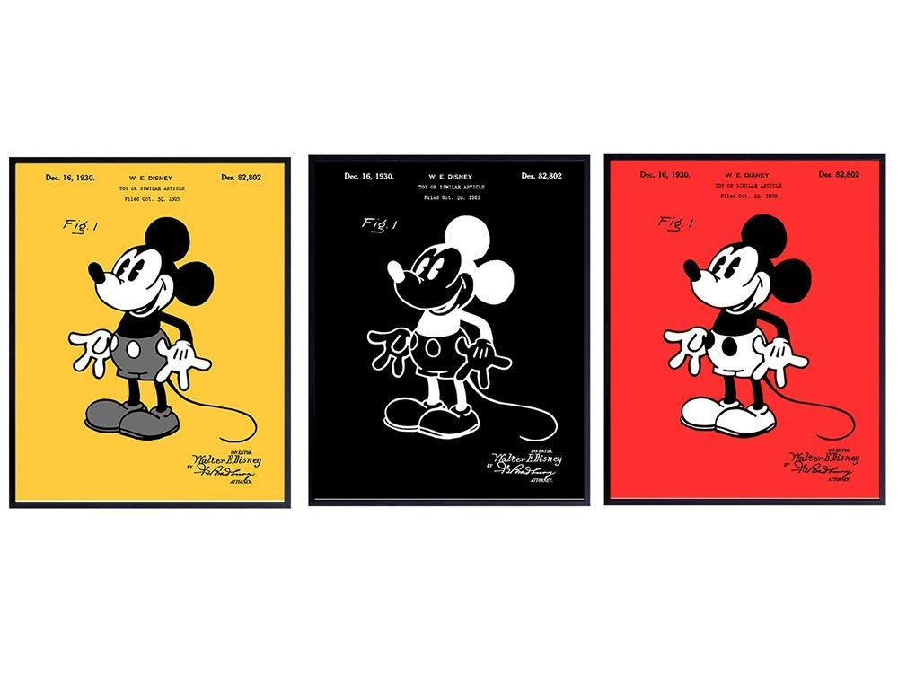 Disney Patent Prints - Mickey Mouse Decor - Original 8x10 UNFRAM