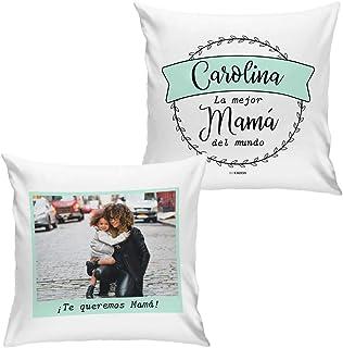 Cojín Personalizado Día de la Madre La Mejor Mamá del Mundo con Foto (Menta)