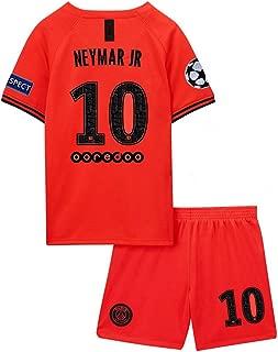 agsfxa Paris Saint Germain X New 2019/2020 Season 10 Neymar Away Kids/Youths Soccer Jersey & Shorts & League Armbands