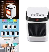 HUAJIE 800W Calefactor cerámico portátil tamaño Mini Calor instantáneo termostato Ajustable para el hogar, la Oficina, el Cuarto de baño, el bebé, Navidad