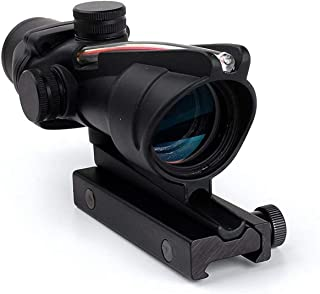wipboten Rifle Scope 4x32 Scope True Fiber Red Illuminated Crosshair BDC Gun Scopes