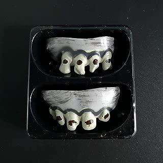 🍂HuiKai🍂Halloween Denture Vampire Teeth Zombie Front Teeth Plastic Soft Tooth Braces