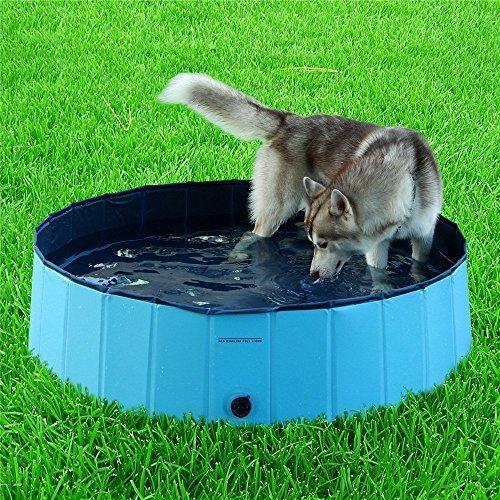 Namsan Foldable Dog Pool Bathing Tub for Large Dogs, Sky Blue