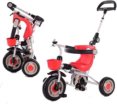 Nuevos productos de artículos novedosos. Axdwfd Infantiles Bicicletas Triciclo para Niños 2-6 años años años de Edad Regalo de cumpleaños Triciclo para bebés con Mango de Empuje Carga (Peso de Carga 40 kg  grandes ahorros