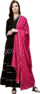 Bhama Couture Women's cotton a line Salwar Suit Set
