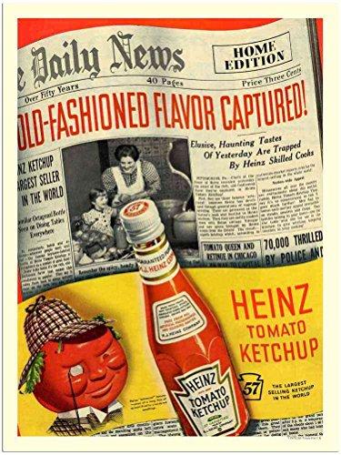 Metalen bord 070205 Heinz Tomaat Ketchup A4 12x8 Aluminium