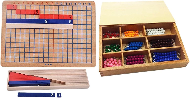 MonkeyJack Wooden Montessori Toys Math Learning Materials Kids Intelligent Development
