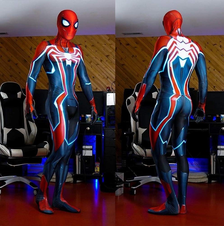 POIUYT Spiderman Anime Kostüm Bürgerkrieg Ps4 Super Phantasie Spiderman Strumpfhosen Cosplay Anime Siamesische Leistung Filmrequisiten Kostüme (Farbe  Blau Gre  M),Blau-XXXL
