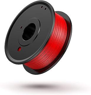 3D Printer PLA Filament 1.75mm, LABISTS Plastic 3D Printing PLA Filament Bundle 0.25kg/0.551lb, 0.25KG/Spool (Red)