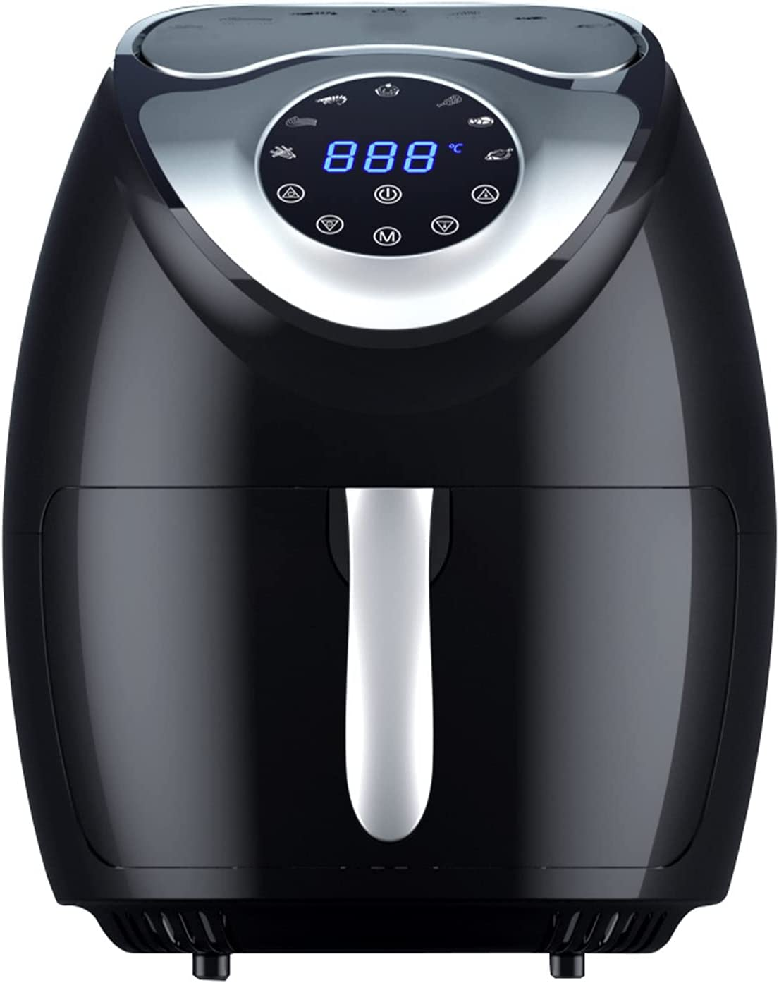HAIMIM Air Fryer, 8 Quart Electric Hot Air Fryers with LCD Touch Screen, Oilless Oven with Eight preset functions, automatic power off ,Nonstick Basket (Black)