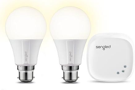 Sengled E29-UI03A-BW Element Classic Starter Kit (2 A60 Bulbs + hub) - 60W Equivalent Soft White (2700K) Smart LED Bulbs, Zigbee, B22