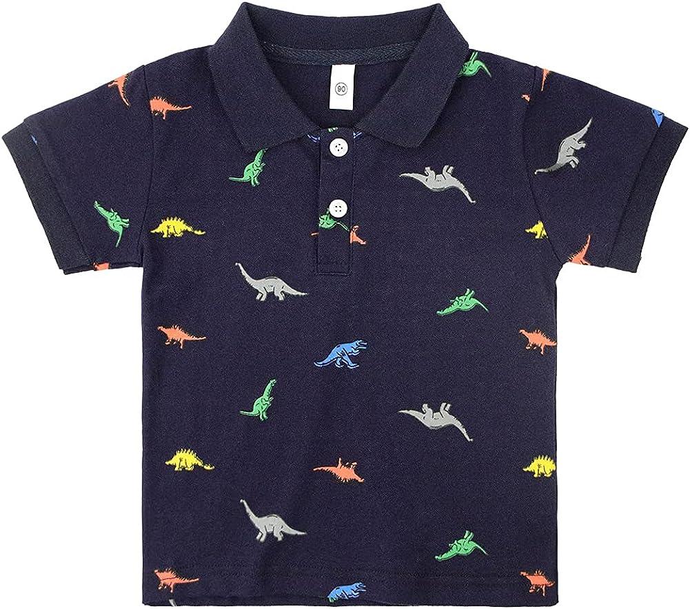 Little Boys Short Sleeve Polo Shirt Cute Summer Tee Uniform Tops