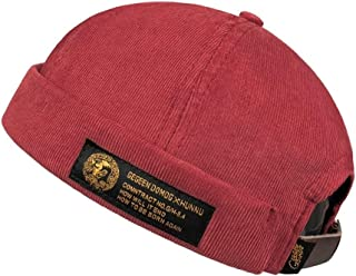 WYMAI Trendy Hatless Hip Hop Hat, Casual Hat, Retro Elegant Sailor Cap, Good Material, Practical and Durable. Simple and Practical Product (Color : Red)