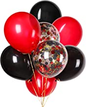 Black and Red Balloons for Lumberjack Party Supplies 12 inches Latex Balloon and Confetti Balloons for Wedding, Music Festival, Prom's Décor Bridal Shower Birthday Party Supplies 30 PCS