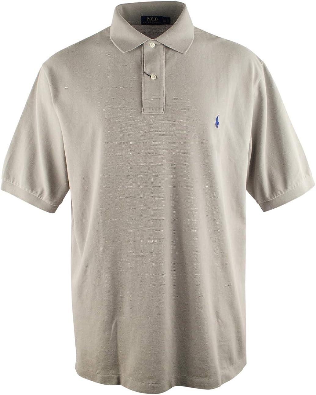 Polo Ralph Lauren Men's Big and Tall Pique Cotton Polo Shirt (1XB, Barn Grey)