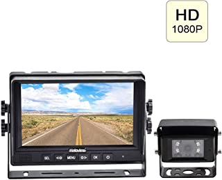"""$159 » Haloview MC7611 1080P High Definition 7"""" Digital Wired Backup Camera System for Truck/Trailer/Bus/RV/Pickups/Camper/Van/Fa..."""