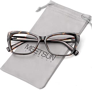 MEETSUN Large Frame Blue Light Blocking Glasses Women Computer Reading/Gaming/TV/Phones Glasses,Anti Eyestrain