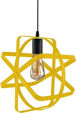 Yellow Fan Shape Pendant Ceiling LED Hanging Lamp