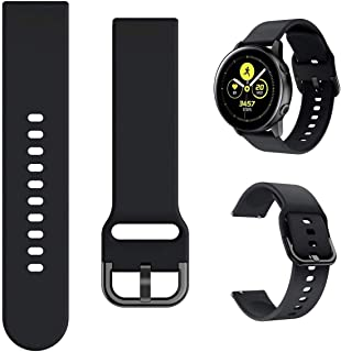 Fit for Garmin Forerunner 245 Music Bands Women Men/Vivoactive 3 Music Watch Band, 20mm Quick Release Stylish Silicone Ban...