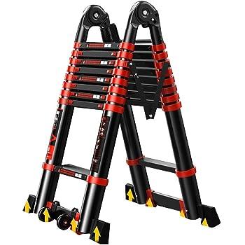 DD Escalera de Espiga, 3.4-8.2M Escalera Telescópica Escalera Telescópica de Aluminio Tall Multi Propósito Pesado Máx. (Color : 3.3+3.3=straight 6.6m): Amazon.es: Bricolaje y herramientas