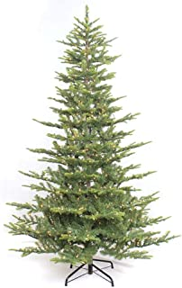 Puleo International 6.5 Foot Pre-Lit Aspen Fir Artificial Christmas Tree with 500 UL Listed Clear Lights, Green