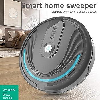 L-DiscountStore Aspirador de Robot, electrostática Inteligente de Limpieza automática Aspiradores robóticos Fregona de bajo Ruido Detector Inteligente Robot Limpiador: Amazon.es: Hogar